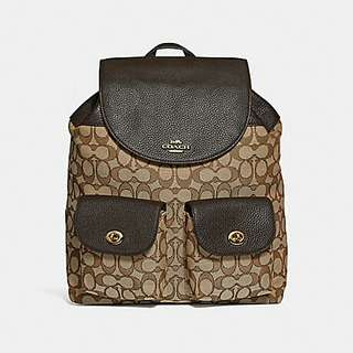 BILLIE BACKPACK IN SIGNATURE JACQUARD COACH F30275