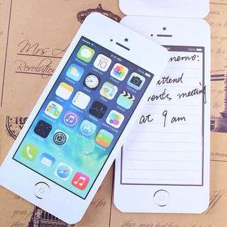 iPhone notepad/memopad