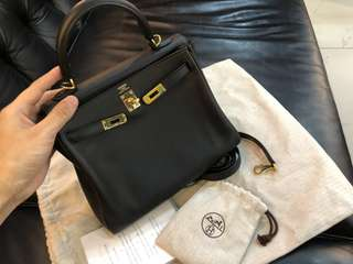 Hermes kelly 25 X stamp ghw
