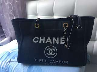 Chanel 牛仔布 帆布 袋 tote bag denim medium size 90% New 金鍊