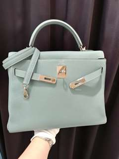 Hermes kelly 32 bluelin