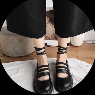 韓國ulzzang原宿復古學生女鞋厚底百搭學院風小皮鞋女軟妹單鞋潮
