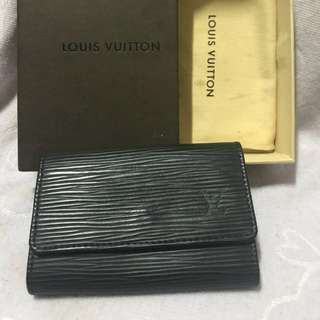 LV EPI 黑色水波紋鑰匙包