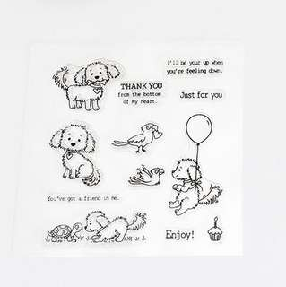🚚 🌸 [SALE] Doggie with balloon clear stamp