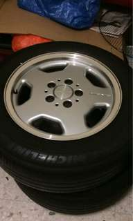 W124/W123 Original AMG 15 inch with Michelin tyre