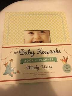 Tha baby keepsake book and planner