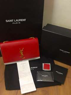 Pre-owned~YSL Saint Laurent Classic Medium Monogram