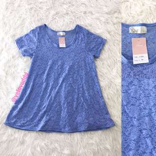 VL6004 Yoco blue lace top