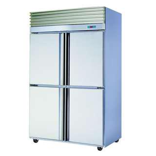 4 DOOR FREEZER STAINLESS STEEL