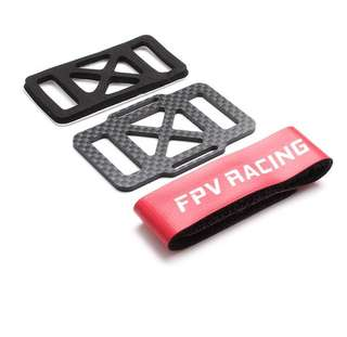 DALRC Carbon Fiber Battery Protection Board with 20cm Battery Straps