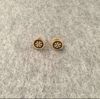 Tory Burch Earrings Gold black 黑色撞金色耳環