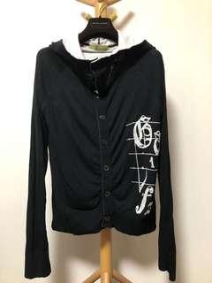 John Galliano knit hoodie jacket 毛織外套