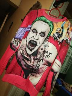 The Joker (Jared Leto) Sweater -Red