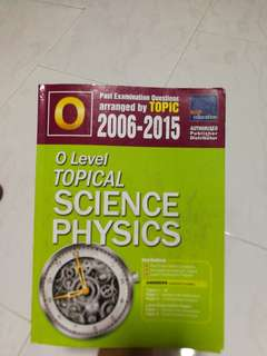 O level topical ten year series combine science physics 2006-2015