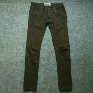 TOPMAN Dark Brown Button Fly Soft Jeans Size 30
