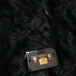 1:1 90%新 LV Petite Malle 高仿 自行鍍了真金 和真品無異 全套齊 小盒子