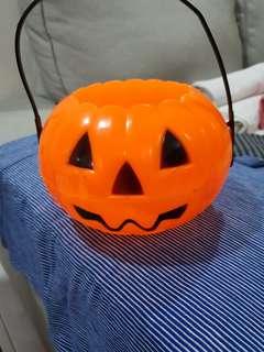Pumpkin pail~ Halloween pumpkin container~ Halloween pumpkin