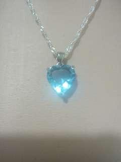 🚚 氣質款10克拉海藍寶項鍊  (附收納盒,飾銀布)