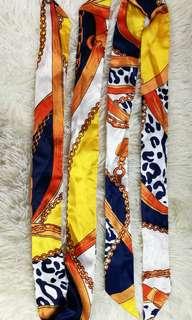 Twilly handbag ribbon scarf
