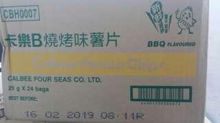 卡樂B燒烤味原箱(25克x24)
