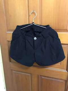 挺料 休閒 短褲 黑色 口袋褲子
