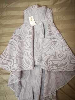 Greyish Baby Blue Elegant Dress