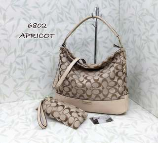 Coach Hobo Bag 2 in 1 Apricot Color