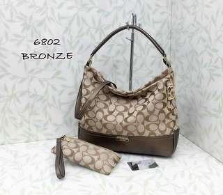 Coach Hobo Bag 2 in 1 Bronze Color