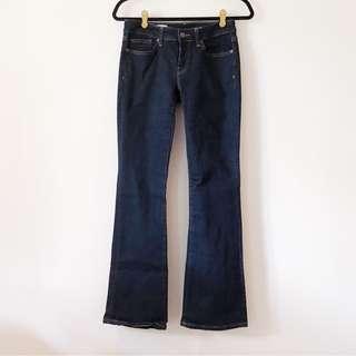 Gap 1969 Sexy Boot Denim Jeans in Dark Blue