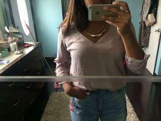 Forever 21 Champagne Pink Dress Shirt Top