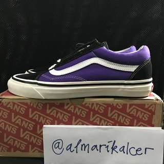 Vans old skool 36 dx anaheim factory black og bright purple new sz 42 us 9