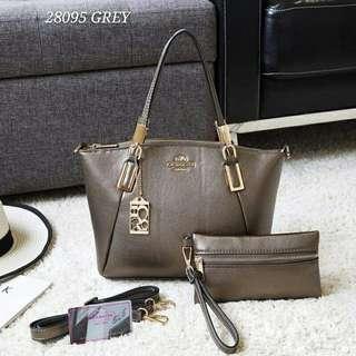 Coach Handbag 2 in 1 Grey Color