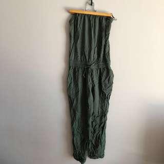 Aritzia Army Green Romper