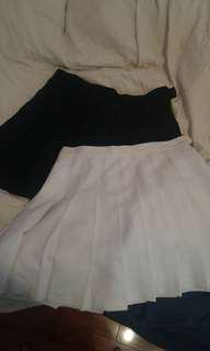 American Apparel White and Navy Tennis Skirts