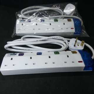 Extension Cord with 4 Sockets. Brand new, never used