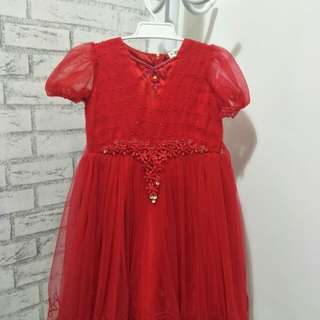 Preloved Red Kids Dress