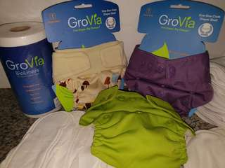 Branded cloth diaper set GROVIA