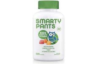 [IN-STOCK] SmartyPants Kids Complete and Fiber Gummy Vitamins: Multivitamin, Inulin Prebiotic Fiber & Omega 3 DHA/EPA Fish Oil, Folate (Methylfolate), Methyl B12, Vitamin D3, 120 count (30 Day Supply)