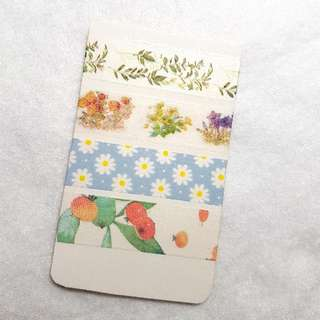 plant/flower themed washi sample