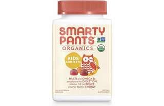[IN-STOCK] SmartyPants Vegetarian Organic Kids Daily Gummy Vitamins: Multivitamin, Gluten Free, Non-GMO, Omega-3, Probiotic, Vitamin D3, Methylcobalamin B12, Zinc; 120 Count (30 Day Supply)