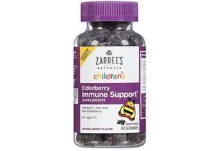 [IN-STOCK] Zarbee's Naturals Children's Elderberry Immune Support* Gummies, With Vitamin C, Zinc & Elderberry, 42 Gummies (1 Bottle)