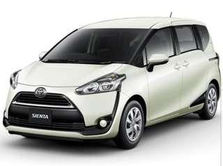 Brand new Toyota Sienta (hybrid)