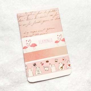 Pink themed washi sample