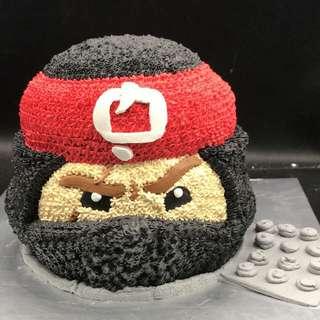 Lego 忍者 樂高玩具 蛋糕 三磅