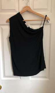 Aritzia Babaton Black Off Shoulder Top