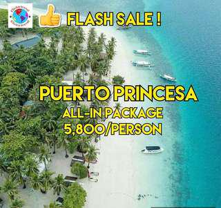 Puerto Princesa all in package for 5800