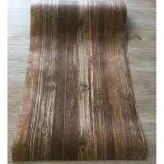 Dark Brown WoodGrain Contact Paper Wallpaper DIY Self-Adhesive Home Wall Decor for Furniture Cabinet Tabletop Makeover