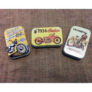 Tin Box Vintage Motorcycle