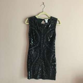 BNWT Sequin Knee Length Open Back Dress