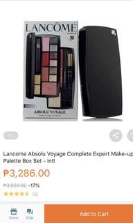 Lancome paris Absolu Voyage complete make-up palette